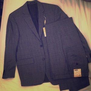 Michael Kore Plaid Suit